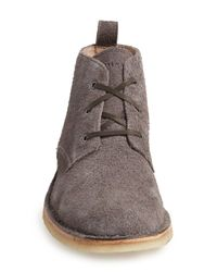 Andrew Marc - Gray Dorchester Suede Chukka Boot for Men - Lyst