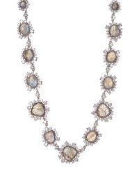 Nadri | Metallic Oasis Stone & Crystal Halo Set Bead Necklace | Lyst