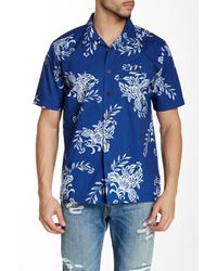 Quiksilver | Blue Rivieras Woven Short Sleeve Regular Fit Shirt for Men | Lyst