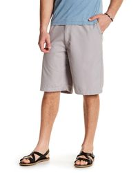 Quiksilver | Gray Solid Regular Fit Short for Men | Lyst