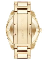 Emporio Armani - Metallic Crystal Index Bracelet Watch - Lyst