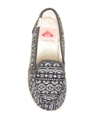 Roxy - Blue Lido Iii Faux Fur Lined Slip-on Shoe - Lyst