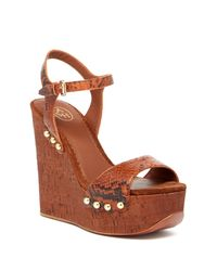 Ash | Brown Biba Wedge Sandal | Lyst