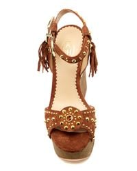 Ash - Brown 'bliss' Wedge Sandals - Lyst