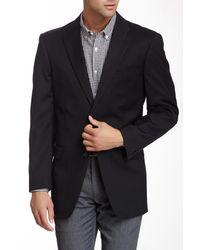 Tommy Hilfiger | Adams Black Sharkskin Two Button Notch Lapel Wool Blazer for Men | Lyst