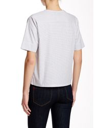 Shades of Grey by Micah Cohen - White Origami Woven Tee - Lyst