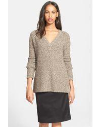 ATM - Multicolor Raglan Sleeve V-neck Wool Blend Sweater - Lyst