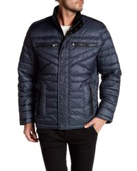 Bugatchi | Blue Long Sleeve Puffy Jacket for Men | Lyst