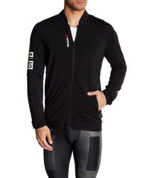 Reebok - Black Stretch Track Jacket for Men - Lyst