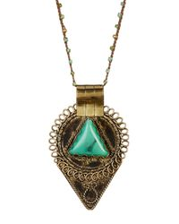 Native Gem Jewelry - Metallic Aztec Hand Crochet Necklace - Lyst