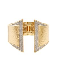 House of Harlow 1960 | Metallic Accented Hinge Cuff Bracelet | Lyst