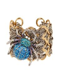 Betsey Johnson | Metallic Spider Cuff | Lyst