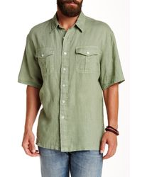Pendleton - Green Morrison Regular Fit Linen Camp Shirt for Men - Lyst