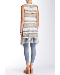 Blu Pepper - White Fringe Trim Sweater Vest - Lyst