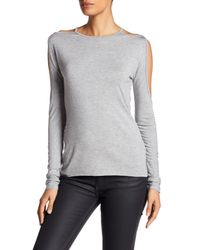Bailey 44 - Gray Cold Shoulder Open Sleeve Shirt - Lyst