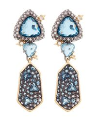 Alexis Bittar - White Elements Trillion Shield Drop Earrings - Lyst