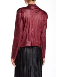 Insight - Red Cracked Faux Leather & Suede Jacket - Lyst