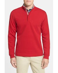 Cutter & Buck - Red 'fulltime' Pima Cotton Pullover (big & Tall) for Men - Lyst