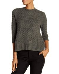 Qi | Green Honey Comb Cashmere Sweater | Lyst