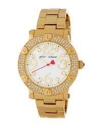Betsey Johnson   Metallic Women's Pave Crystal Bracelet Watch   Lyst