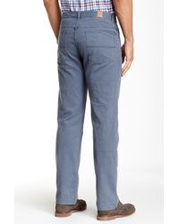 Bills Khakis - Blue Five Pocket Standard Fit Pant for Men - Lyst