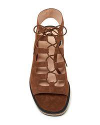 Bettye Muller - Brown Midas Lace-up Platform Sandal - Lyst