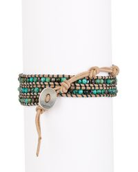 Chan Luu | Multicolor African Turquoise Mix Beaded Wrap Bracelet | Lyst