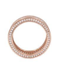 Savvy Cie Jewels Metallic 18k Rose Gold Vermeil Cz Detail Eternity Band Ring