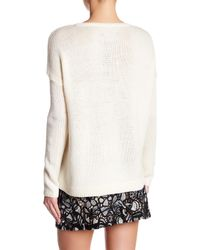 Alice + Olivia | Natural Boxy Wool Cable Knit Sweater | Lyst