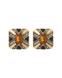 House of Harlow 1960   Multicolor Art Deco Stud Earrings   Lyst