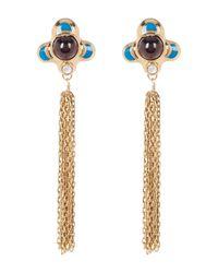 House of Harlow 1960 - Metallic Dinka Garnet Chain Fringe Earrings - Lyst