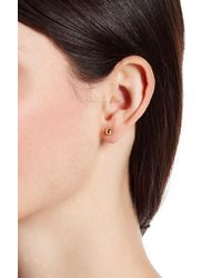 Vince Camuto | Metallic Ball Stud Chain Swag Earrings | Lyst