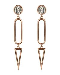 Vince Camuto | White Multi Shape Dangle Earrings | Lyst