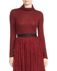 Alice + Olivia | Red Billi Slim Turtleneck Sweater | Lyst