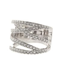 Vince Camuto - Metallic Negative Space Crystal Pave Ring - Size 8 - Lyst