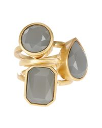 Vince Camuto - Metallic Glass Stone Stack Ring Set - Size 7 - Lyst