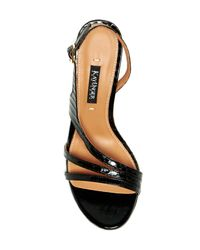 Kay Unger - Black Cancun Leather Slingback Sandal - Lyst