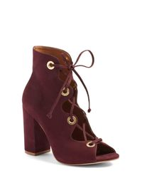 Steve Madden | Multicolor Carusso Lace-up Peep Toe Bootie | Lyst