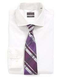 Calibrate - White Trim Fit Dress Shirt for Men - Lyst