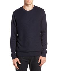 Calibrate | Blue Honeycomb Stitch Crewneck Sweater for Men | Lyst