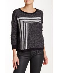 Lilla P - Black Dropped Shoulder Jewel Neck Sweater - Lyst