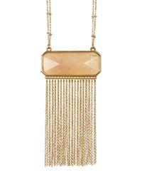 Catherine Malandrino | Metallic Semi-precious Stone Fringe Necklace | Lyst
