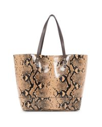 Cole Haan | Black Beckett Leather Snake Print Tote | Lyst