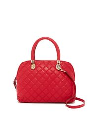 Cole Haan | Red Benson Quilted Leather Dome Satchel | Lyst
