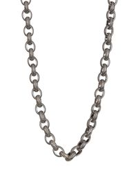 "Stephen Dweck - Metallic Sterling Silver Engraved Link Chain 18"" Necklace - Lyst"
