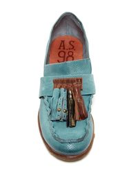A.s.98 - Blue Clyde Tassel Loafer - Lyst