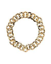 Nadri - Metallic Hammered Chain Link Collar Necklace - Lyst