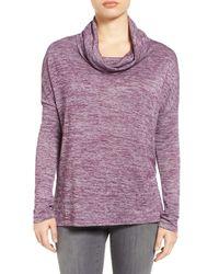 Caslon | Purple Cowl Neck Tunic (petite) | Lyst