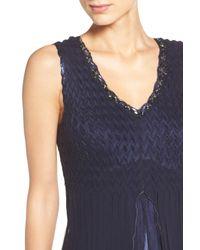 Komarov - Blue Embellished Chiffon Dress & Shawl (petite) - Lyst