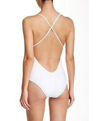 DSquared² - White Solid Padded One Piece Swimsuit - Lyst